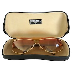 Authentic CHANEL Brown Gold Gradient 4027 Sunglasses Made in Italy