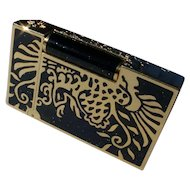 """S.T. Dupont """"Phoenix"""" Lighter, Gold & Black Lacquer, Only 888 Made. Box & Papers"""