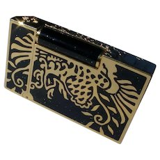 "S.T. Dupont ""Phoenix"" Lighter, Gold & Black Lacquer, Only 888 Made. Box & Papers"
