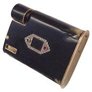 Cartier Lighter, 14K Gold w/ Black Enamel- Circa 1930s