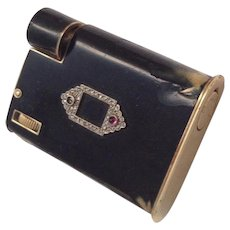 Cartier Lighter, 14K Gold w/ Black Enamel- Circa 1930s