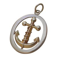 18K Gold Anchor Pendant For The Sailor In You