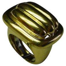Big David Webb Ring, 18K Gold