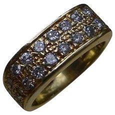 Beautiful 18K Gold Band /26 Pave` Set Diamonds