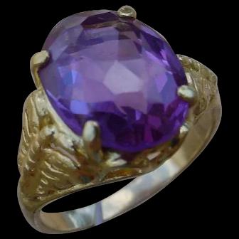 22 Karat Gold Ring w/ 4.6 Carat Amethyst