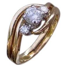 Ladies 18K Diamond Engagement Ring w/0.36 Ct. VS2, I Color Center Diamond