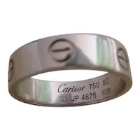 Cartier Love Ring, 18K White Gold size 60.