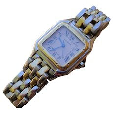 Cartier Panther Mid Size. 2 Rows of 18K Gold Links.