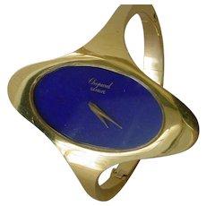 Fabulous Vintage Ladies Chopard 18K Gold, Lapis Dial, w/ Original Box.