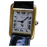 Chopard 18K Gold Manual Wind Ladies Watch, Tank Shape