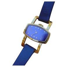 Ladies Bucherer Watch, 18K Gold. Far Out Design.