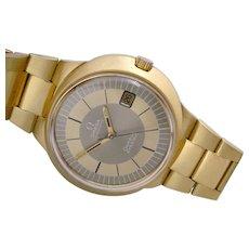 Extremely RARE 1970s Omega Dynamic 18K Solid Gold Case & Bracelet.