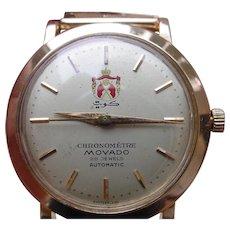 Very RARE Movado, Royal Kuwaiti GIFT, 18K Pink Gold Chronometre 28 Jewels.