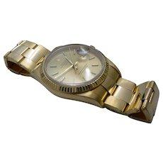 Rolex Date 15238, Solid 18K Gold , Quick Set, Ford Motor Co. Logo