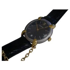Elegant Chaumet Stainless Steel Case w/ Gold Lugs, Diamond Accent.