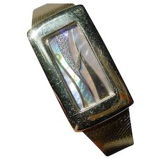 """Beautiful 18K Gold Chopard For Kutchinsky, Multi Stone """"Collage"""" Dial"""