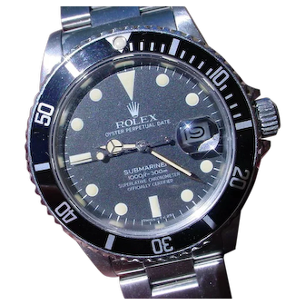 Vintage 1982 Rolex Submariner 16800, Matte Dial, Rolex Box Included