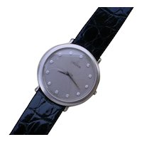 Elegant 900 Platinum Credor w/ Diamond Dial
