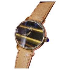 Beautiful 18K Gold Ladies Baume & Mercier, Rare Dial.