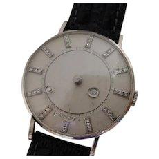 Vintage Vacheron Constantin - LeCoultre Galaxy 14K White Gold, 37 Diamond Mystery Dial