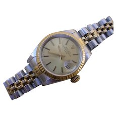 Rolex Oyster Perpetual Date Ladies 18K/SS Gold, 69173, SERVICED