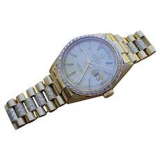Rolex Day Date 1803 w/ Diamond Bezel, Diamond Set Bracelet. 142 Grams In Total.