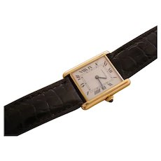 Cartier Tank Gents, 18K Solid Gold Case, Mechanical Movement.