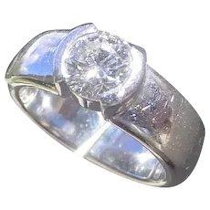 Tiffany & Co. Platinum Engagement Ring 0.92 Ct. G VVS2