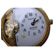 Hebdomas Arnex 8 Days Pocket Watch w/ Fob Chain