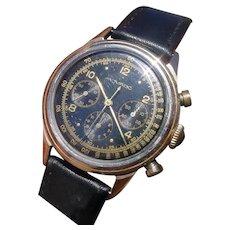 Very Rare GILT DIAL 1960s Movado Chronograph 19039