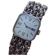 Rare Vintage Tissot Ladies Sterling Silver Watch.