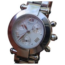 Beautiful Chopard Imperiale, Ladies Chronograph, Stainless Steel.