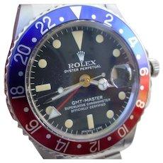 Vintage Rolex GMT Master 1675 ALL ORIGINAL, Box & Booklet