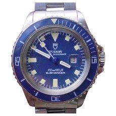 Vintage Rolex/Tudor Submariner Snowflake 94400 200m, Mfg. 1984. Box/Papers