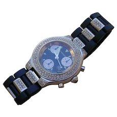 Cartier Chronoscaph 21 Chronograph Set w/ 170 Diamonds.
