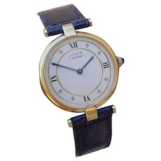 Vintage Gents Cartier Vendome, Vermeil Case, Quartz Movement