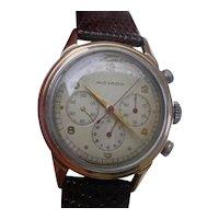 Vintage MOVADO Chronograph ref. 19039 Rose Gold & Steel, cal. 95M