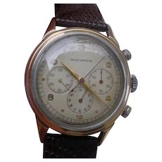 Vintage MOVADO Chronograph ref. 19039 Rose Gold & Steel, cal. 95M