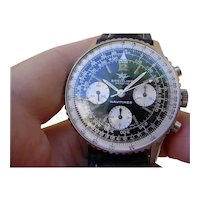 1966 Breitling Navitimer Chronograph 806, Twin Jets TRUE GILT Dial. Unpolished!