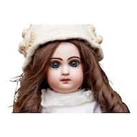 Antique French Bisque Closed Mouth Doll Bebe With Closed Mouth, size 6