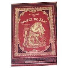 """SOLD   Antique french child book """" Poupee de Bebe"""" ca 1885-1887  M-le DOUDET"""