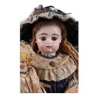 French Bisque Bebe by Gaultier 10  2 raw theeth scroll