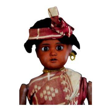 BAHR & PROSCHILD  277  jointed brown  ethnic doll all original