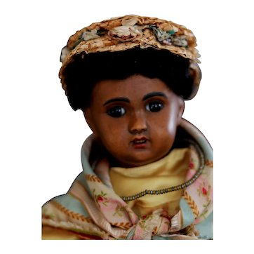 "Fabulous French Brown Bebe by  SFBJ circa 1905 14"" tall"