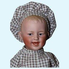 """14"""" Antique German Heubach 7604 6 , Smiling Boy"""