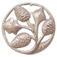 Danecraft Sterling Pinecone Pin