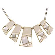 Chic Trifari MOD Necklace - Enameled Open Work