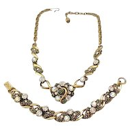 Fabulous Florenza Rhinestone Necklace and Bracelet