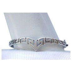 Lovely Sterling Silver Bracelet - Greek Key Design