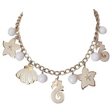Napier Beach Theme Charm Necklace, Earrings